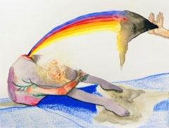 """Catalina Viejo Lopez de Roda, """"Untitled,"""",Mixed Media on Paper, 6"""" x 8"""", 2013."""