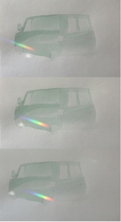 "Carey Denniston, ""Untitled (Econoline passing),"" Single-channel video, 2:00, 2011."