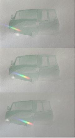 "Carey Denniston, ""Untitled (Econoline passing),"" Single-channel video, 2:00, 2011."