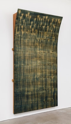 Moira Dryer, Not Titled, 1989, Casein on Wood. Photo: Charles Benton. Courtesy Eleven Rivington, New York.