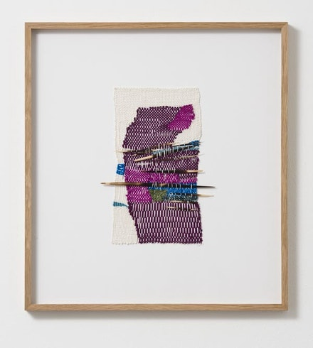 "Sheila Hicks, ""Escape to the North,"" 2013. Linen, silk, bamboo, porcupine quills, 9.625 x 5.5 inches. Artwork © Sheila Hicks; Image courtesy of Sikkema Jenkins & Co., New York."
