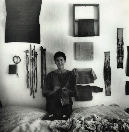Sheila Hicks working on Solferino Tacubaya in Taxco el Viejo, Guerrero, Mexico, 1960-61. Photo: Ferdinand Bosch.