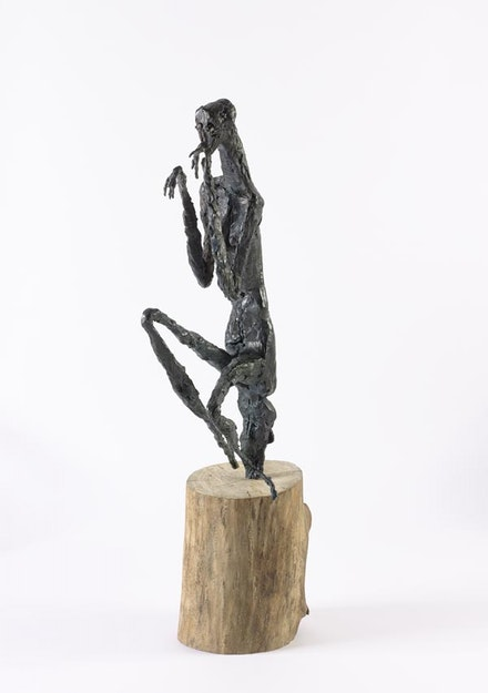 "Germaine Richier, ""La Mante, Moyenne,"" 1946. Dark patinated bronze, 273/16 × 65/6 × 149/16 ̋. Photo: Pierre Antoine © Germaine Richier / 2014 Artists Rights Society (ARS), New York / ADAGP, Paris."