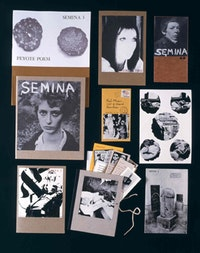 Wallace Berman and various contributors. Semina (editions 1–9), 1955–64. Mixed media limited edition artist's publication, dimensions variable. Special Collections and Archives, Utah State University Library, Gift of the Marie Eccles Caine Foundation