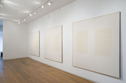 Ethan Cook, installation view, 2014. Courtesy of American Contemporary.