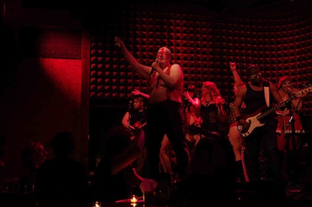 <em>Ubu SIngs Ubu</em>, performance at Joe's Pub. Photo by John Reed.