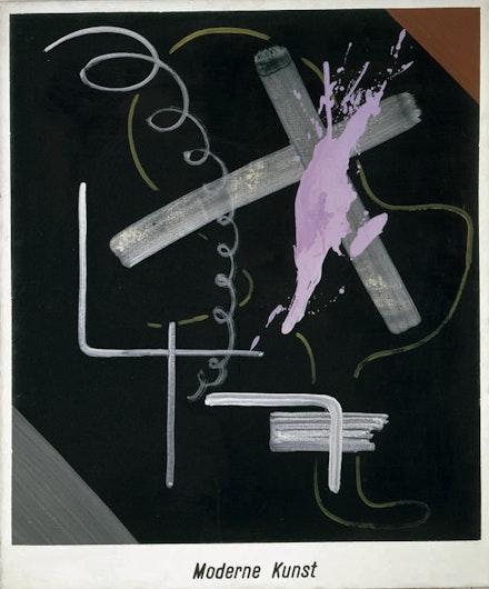 "Sigmar Polke, ""Modern Art (Moderne Kunst),"" 1968. Acrylic and lacquer on canvas, 59 1/16 × 49 3/16. Froehlich Collection, Stuttgart © 2014. Estate of Sigmar Polke/ Artists Rights Society (ARS), New York / VG Bild-Kunst, Bonn."