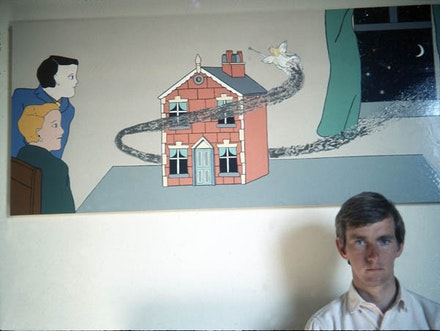 Trevor Winkfield with Fairy Dust, 1966, enamel on board.