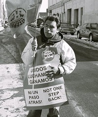 March for Immigrant Workers Rights, February 19, 2007. Photo courtesy of IWW and Make the Road by Walking.