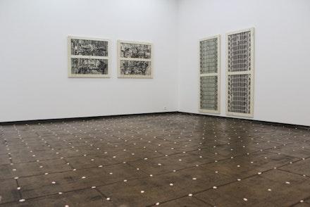 "Meyer Vaisman, ""Firma de artista en caos I-IV,"" 2014. Courtesy Galeria Estrany de la Mota."