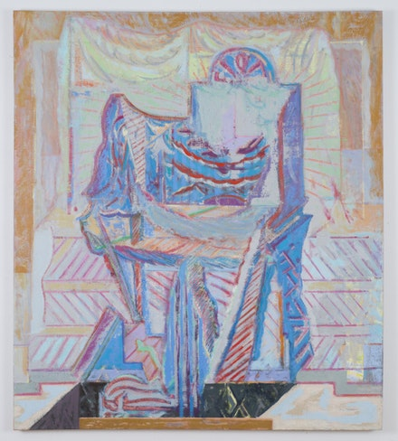 """Michael Berryhill, """"Tabernacle Trapple,"""" 2014. Oil on linen, 58 × 50 ̋. Courtesy of artist and Kansas Gallery."""