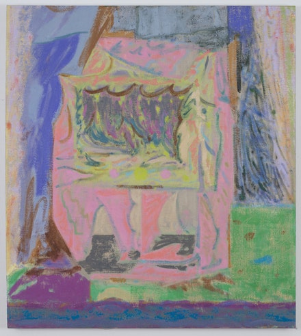 """Michael Berryhill, """"Coven Oven,"""" 2014. Oil on linen, 37 1/4 × 33 1/4 ̋. Courtesy of artist and Kansas Gallery."""