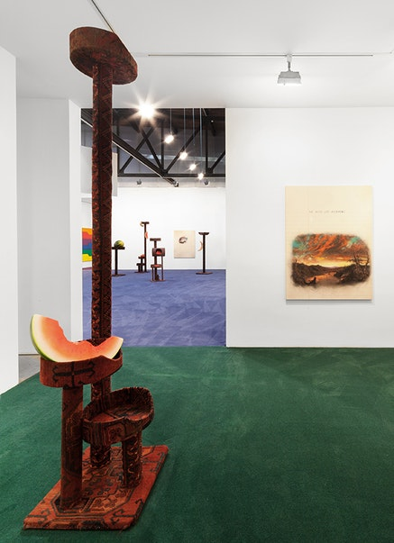 <em>The Temptation to Exist (May Contain Nuts), Installation view, Andrea Rosen Gallery, New York, 2014</em>