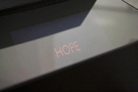 """Danae Stratou, """"It's Time To Open The Black Boxes!"""" 2012. Multimedia installation. Zoumboulakis Galleries, Athens, Greece. Photo: Danae Stratou."""