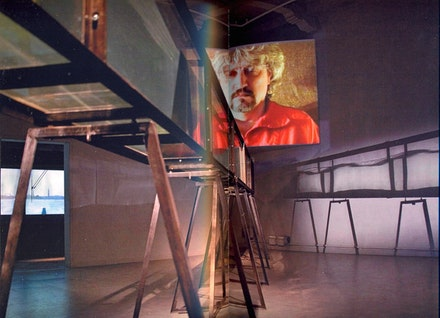 "Alexandre Ponomarev, ""Wave (Dalai),"" 2007. Installation. Metal, acrylic, water, video. Russian Pavilion at the 52nd Venice Biennale 2007. Courtesy Arseny Meshcheryakov."