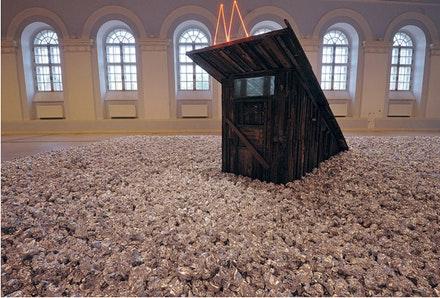 "Alexandre Brodsky, ""Untitled,"" 2013. Installation at the exhibition of the main project of 5th Moscow Biennale of Contemporary Art. Moscow, Manezh. Courtesy the author."