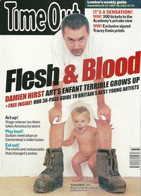 Cover of <i>Time Out</i> magazine featuring Damien Hirst (October, 9, 1997).