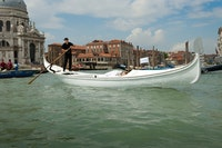 "Kata Mijatović, ""Unconscious: Canal Grande,"" 2013. Performance during the 55th Venice Biennial."
