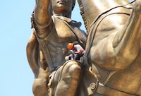 Part of the Project Skopje 2014, Warrior on a horse. Photo credit: build.mk.