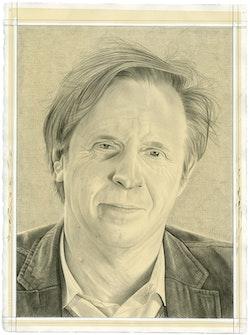 Portrait of Marek Bartelik. Pencil on paper by Phong Bui.