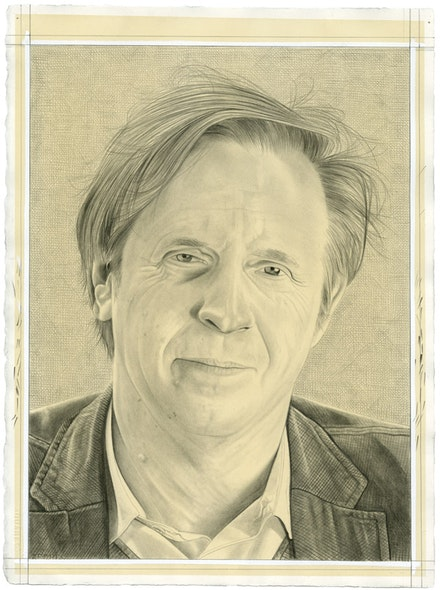 Portrait of Marek Bartelik. Pencil on paper by Phong Bui.