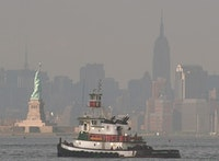 Tugboat in New York Harbor. Photo courtesy of Bernard Ente, www.workingharbor.org.