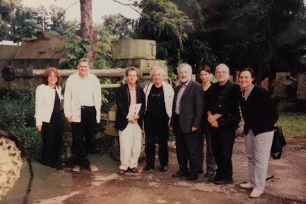 Sarajevo, Kim Levin representing AICA for Ars Aevi, July 2001.