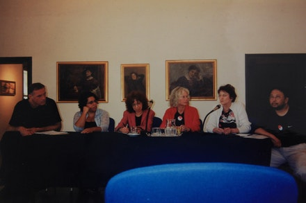 Congress in Polish, 1999. Kim Levin and Antje von Gravenitz (center).