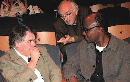 Yacouba Konaté, President of AICA (2008 – 2011) with Christophe Domino (left) and Adriano Vilata.