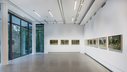 One of the new private art galleries in Sweden is Artipelag, located a half hour drive from Stockholm. A view from the current exhibition, where the ideas of being close to nature is being fully revealed. A recent work by Annica Karlsson Rixon—who is the interviewing artist—is visible on the walls. Photo: Jean-Baptiste Beranger (license Creative Commons).