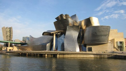 The Guggenheim Museum in Bilbao, Spain.