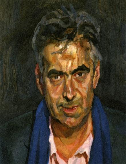 "Lucian Freud, ""Man with a Blue Scarf"" (2004)."