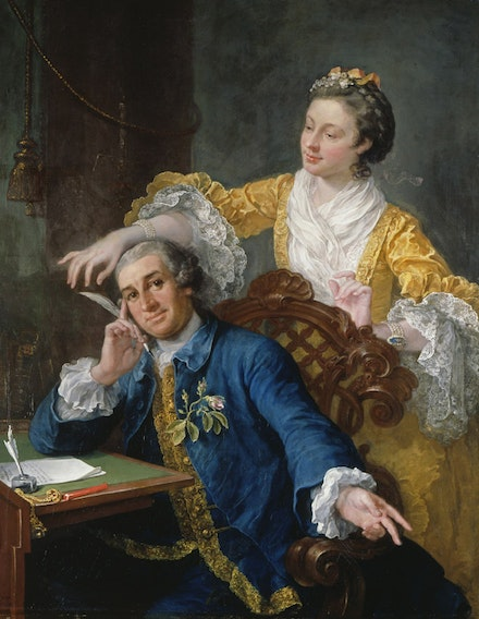 "William Hogarth, ""David Garrick and his Wife Eva-Maria Veigel,"" 1757-64. Image courtesy of the Royal Collection Trust / © Her Majesty Queen Elizabeth II 2014."