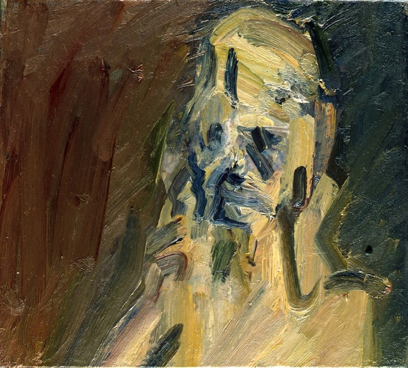 "Frank Auerbach, ""Portrait of Catherine Lampert,"" 2010. Oil on canvas, 201/8 × 221/8 in. © Frank Auerbach. Courtesy Marlborough Fine Art."