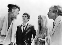 Sterling Hayden, Elliot Gould, Nina Van Pallandt and Henry Gibson in <i>The Long Goodbye</i>. Photo courtesy of Film Forum/MGM