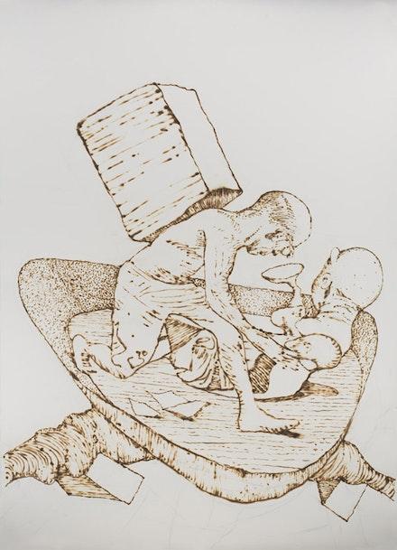 "Michael Zansky, ""Flatland Drawings, 2013"" 52 ̋ × 72 ̋ burnt paper, courtesy of the artist and Stux Gallery"