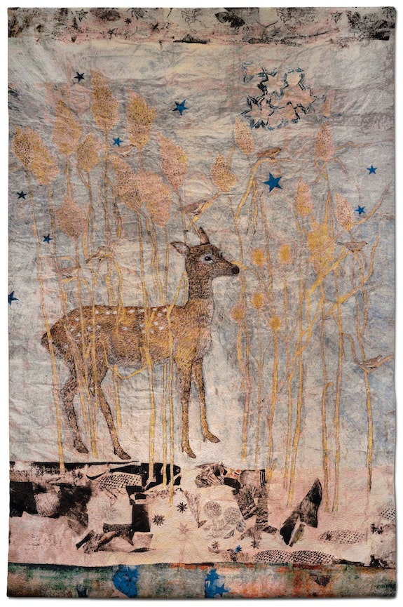 "Kiki Smith, ""Fortune,"" 2014 Jacquard tapestry, 108 ̋ × 72 ̋ Image courtesy the artist and Magnolia Editions"