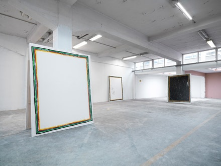 David Ostrowski, <em>Outline Paintings</em> June 1 - June 1, 2013. Installation view, Peres Projects, Cologne  © David Ostrowski. Photo: Ben Hermanni Courtesy of the Artist and Peres Projects, Berlin.