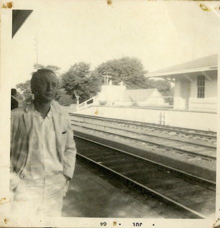 Frank O'Hara in 1964. Image courtesy of Bill Berkson and Rizzoli. To be published this October in <em>New York School Painter & Poets</em> (Rizzoli).
