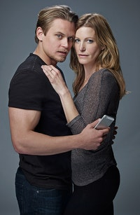 Billy Magnussen and Anna Gunn in Sex with Strangers. Photo: Robert Ascroft.