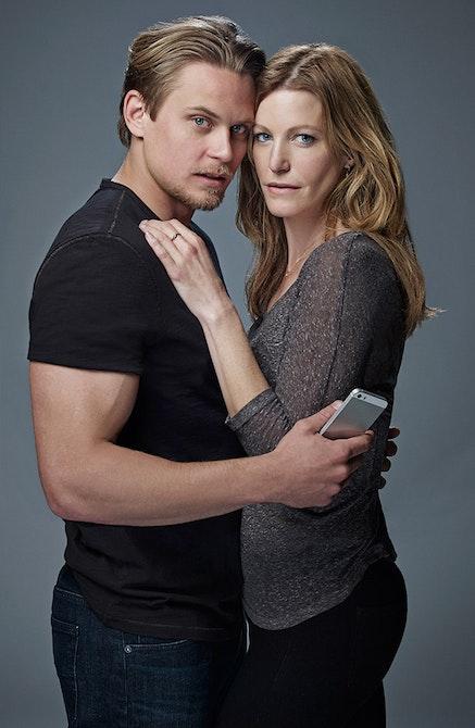 Billy Magnussen and Anna Gunn in Sex with Strangers. Photo: Robert Ascroft.