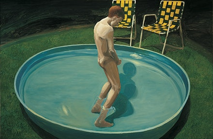 "Eric Fischl, ""Sleepwalker,"" 1979. Oil on canvas, 69 × 105˝. Courtesy the artist."