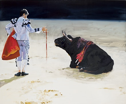 "Eric Fischl, ""Corrida in Ronda #8,"" 2009. Oil on linen, 90 × 108˝. Courtesy the artist."