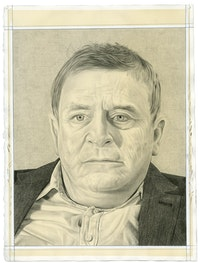 Portrait of Sir Norman Rosenthal. Pencil on paper by Phong Bui.