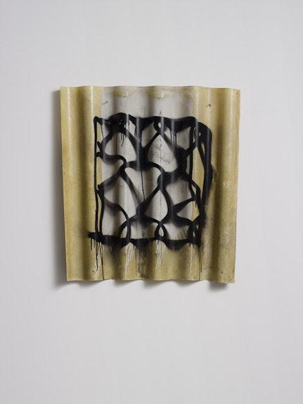 "Tsibi Geva, ""Keffiyeh,"" 2014. Acrylic on polyester, 93 × 83 cm."
