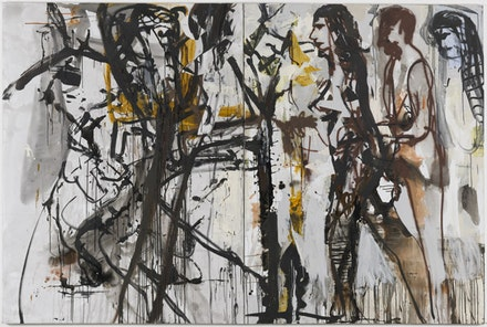 "Tsibi Geva, ""Untitled,"" diptych, 2012. Acrylic on canvas, 200 × 300 cm."