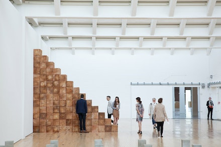 Installation view, <em>Carl Andre: Sculpture as Place, 1958 &#150; 2010</em>, Dia:Beacon, Riggio Galleries, Beacon, New York. May 5, 2014 &#150; March 2, 2015. Art &copy; Carl Andre/Licensed by VAGA, New York, NY. Photo: Ethan Harrison. Courtesy Dia Art Foundation, New York.