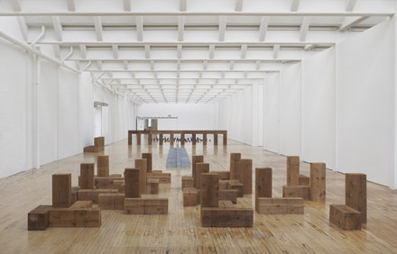 Installation view, <em>Carl Andre: Sculpture as Place, 1958 &#150; 2010</em>, Dia:Beacon, Riggio Galleries, Beacon, New York. May 5, 2014 &#150; March 2, 2015. Art &copy; Carl Andre/ Licensed by VAGA, New York, NY. Photo: Bill Jacobson Studio, New York. Courtesy Dia Art Foundation, New York.