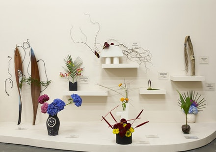 "Camille Henrot, ""Is It Possible to be a Revolutionary and Like Flowers?"" 2012. Installation view. Courtesy New Museum, New York, 2014. Photo: Benoit Pailley."