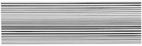 "Bridget Riley, ""Horizontal Vibration,"" 1961. Emulsion on board, 17 1/2 × 55 1/2 ̋. Private collection. © Bridget Riley 2014. All rights reserved. Courtesy David Zwirner, London."